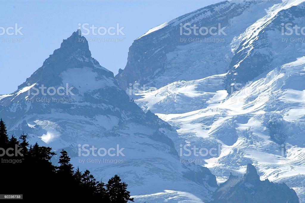 Cascades - Mt Rainier Glacier 2 royalty-free stock photo