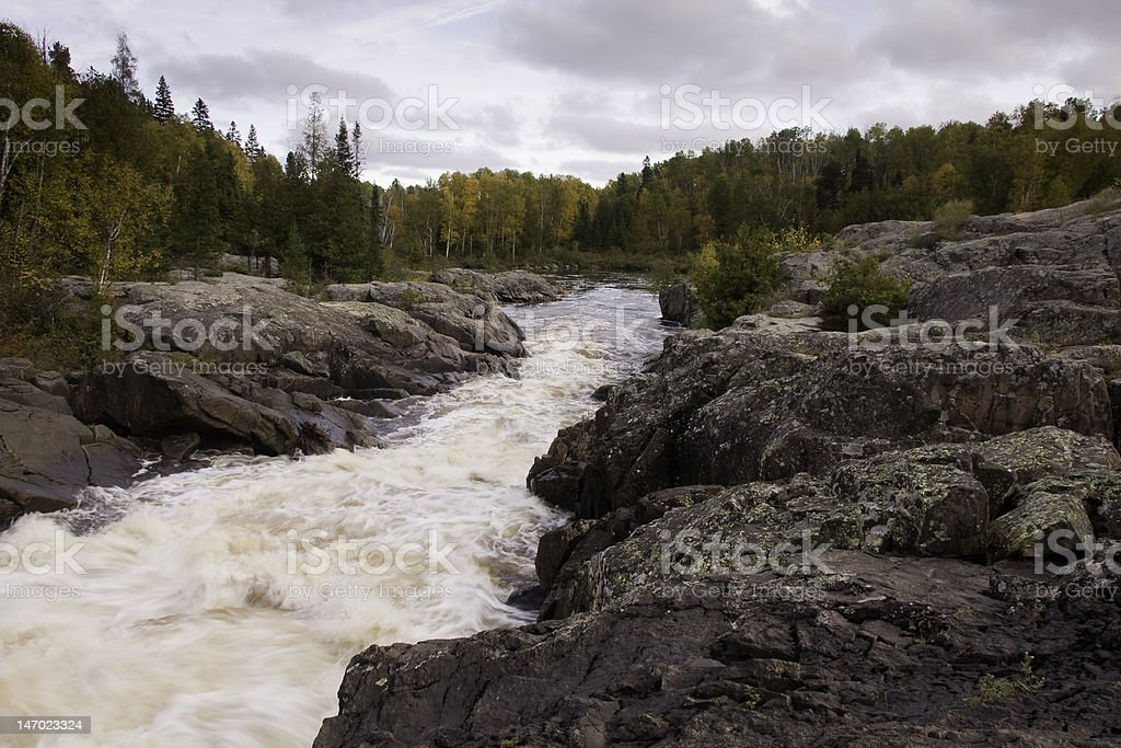 Cascades on Current River stock photo
