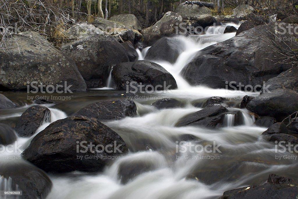 Cascades On Glacier Creek - Rocky Mountain National Park, Colorado stock photo