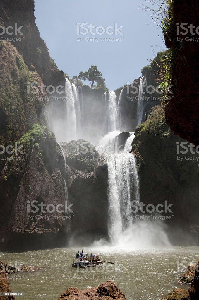 Cascades Ouzod in Morocco - D'Ouzoud Cascade stock photo