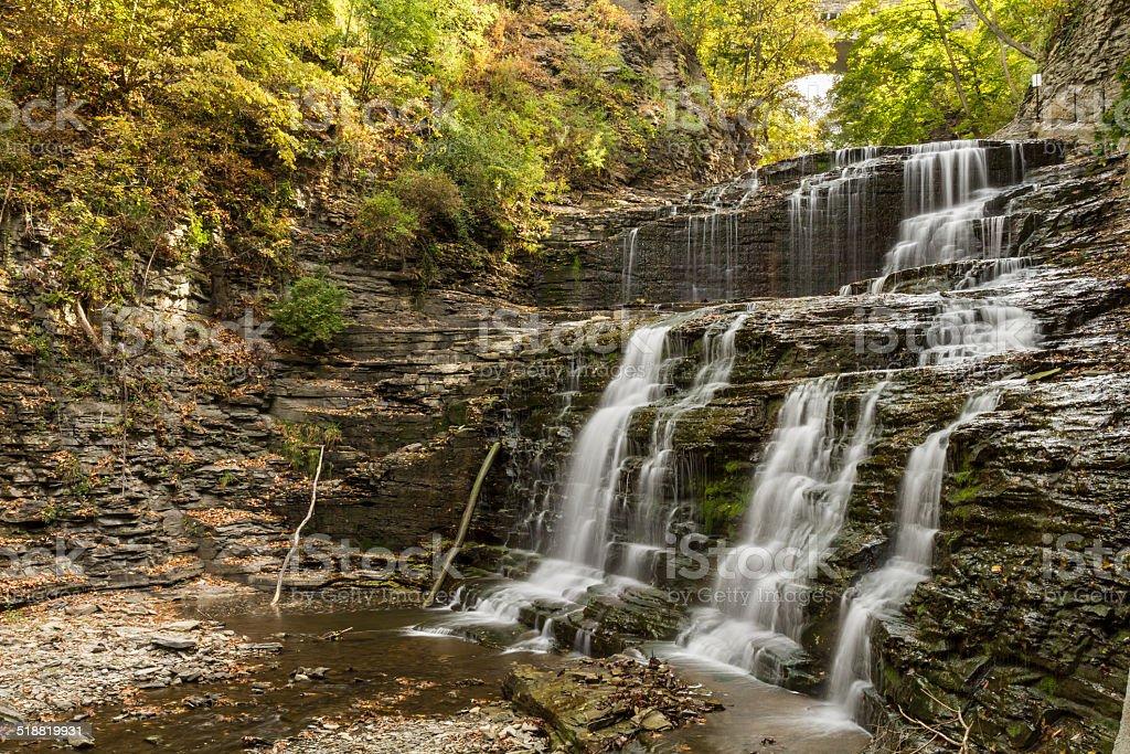 Cascadilla Gorge Waterfalls stock photo