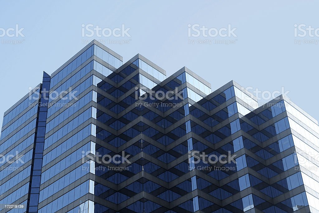Cascading Building royalty-free stock photo