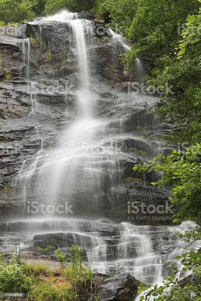 Cascading Georgia Waterfall stock photo