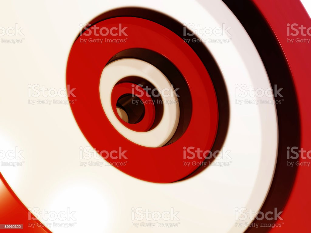 cascading target royalty-free stock photo