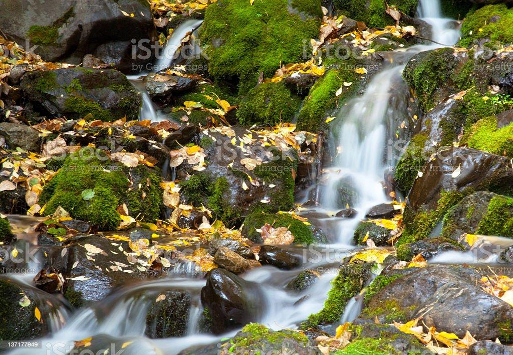 Cascading water fall stock photo
