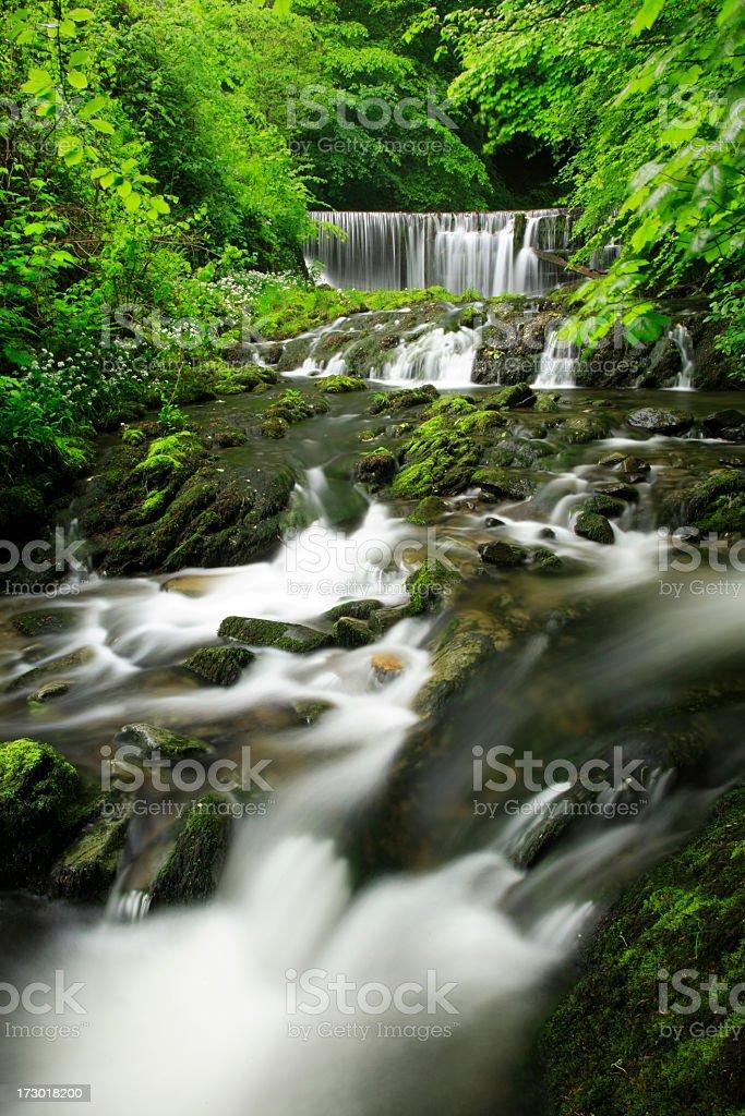 Cascading Water stock photo