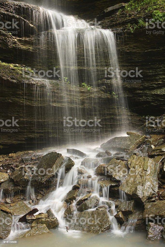 Cascading Waterfall, Devil's Den royalty-free stock photo