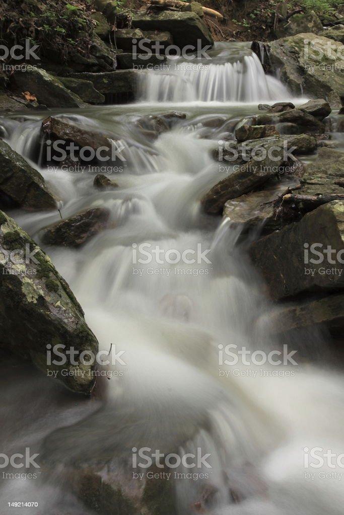 Cascading Waterfall, Ozark Region, Arkansas royalty-free stock photo