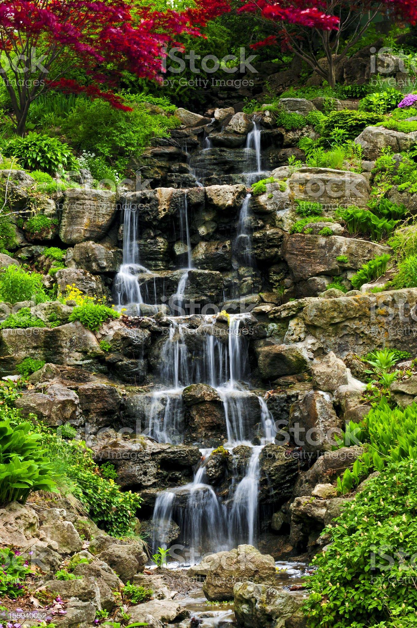 Cascading waterfall royalty-free stock photo