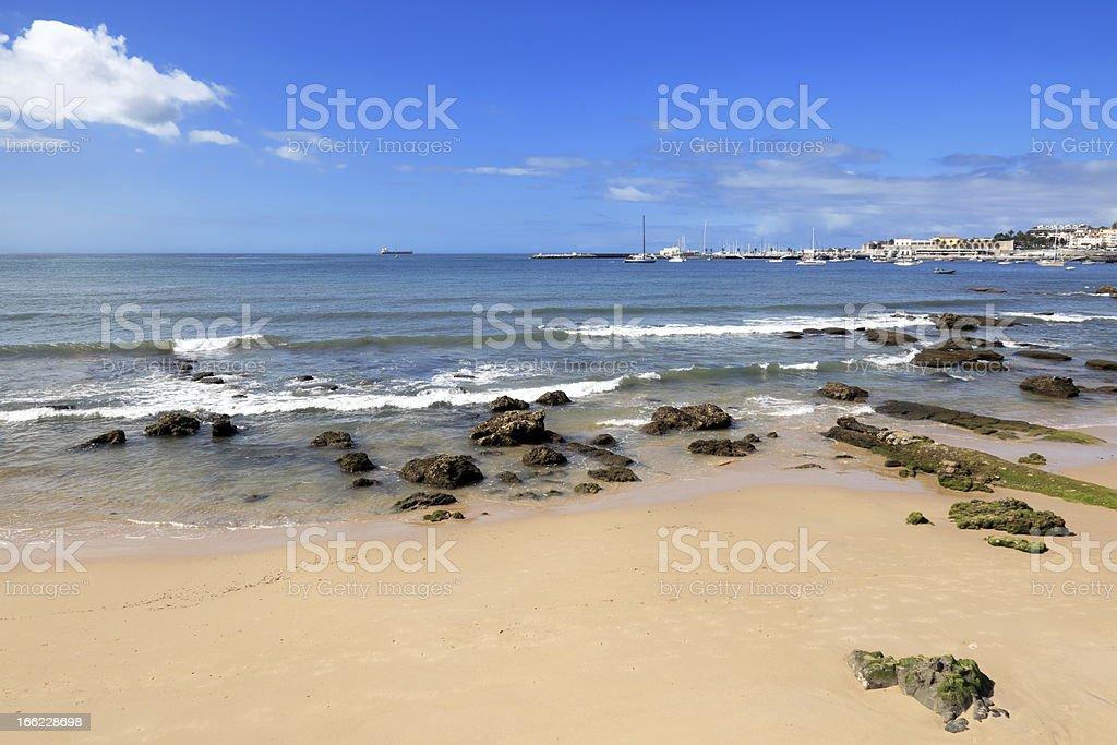 Cascais beach stock photo