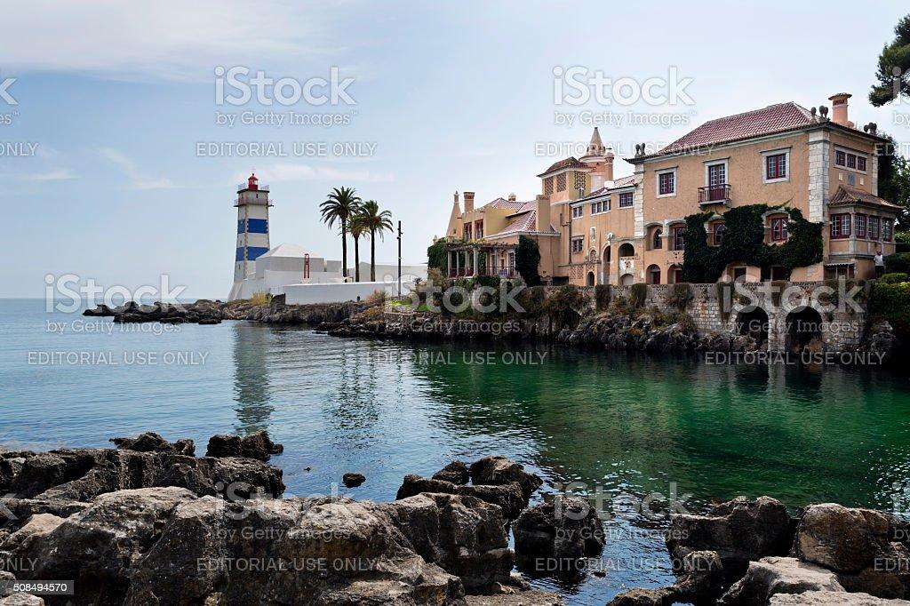 Cascais Santa Marta Lighthouse stock photo