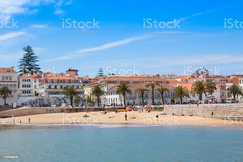 Cascais waterftont near Lisbon in Portugal stock photo