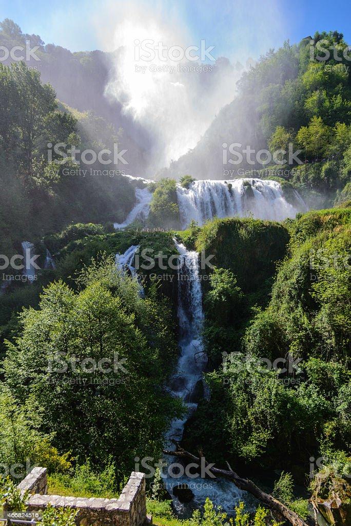Cascate delle Marmore (Marmore Falls) stock photo