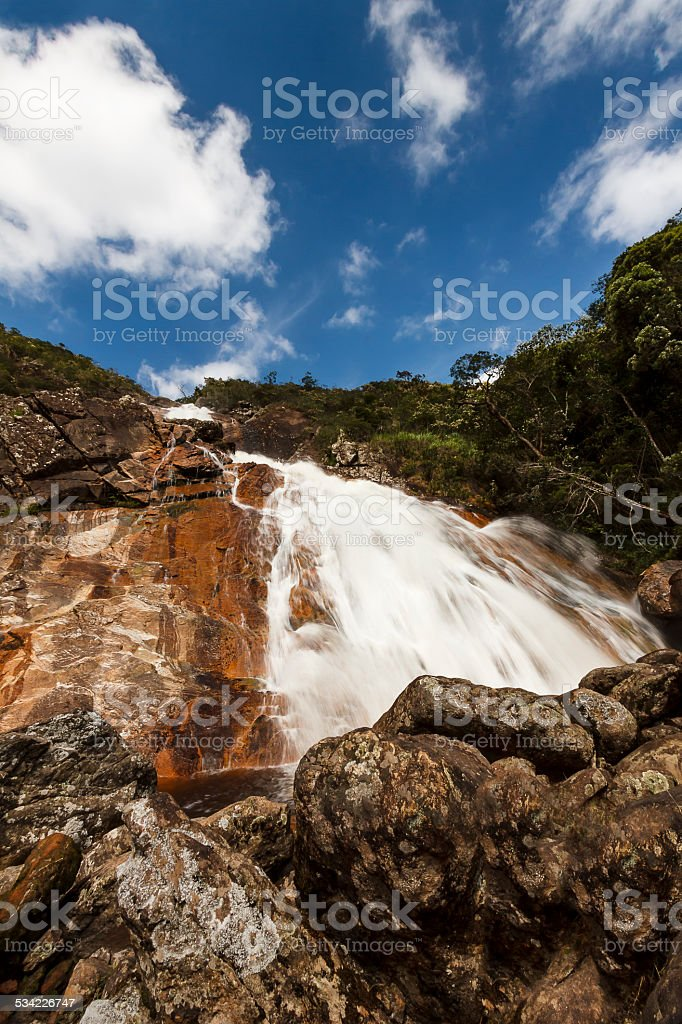 Cascatona Waterfall in Caraça Sanctuary stock photo