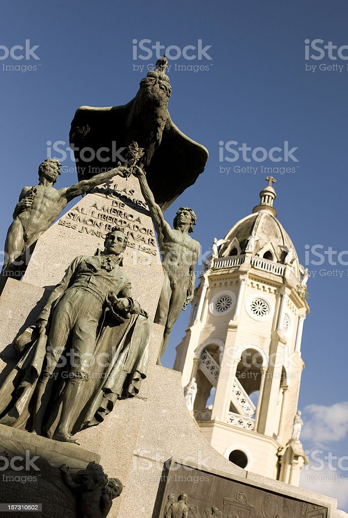 Casco Viejo Plaza royalty-free stock photo