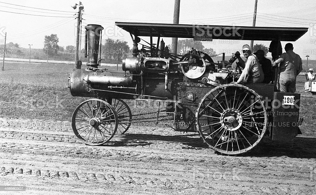 Case 1912 steam engine royalty-free stock photo