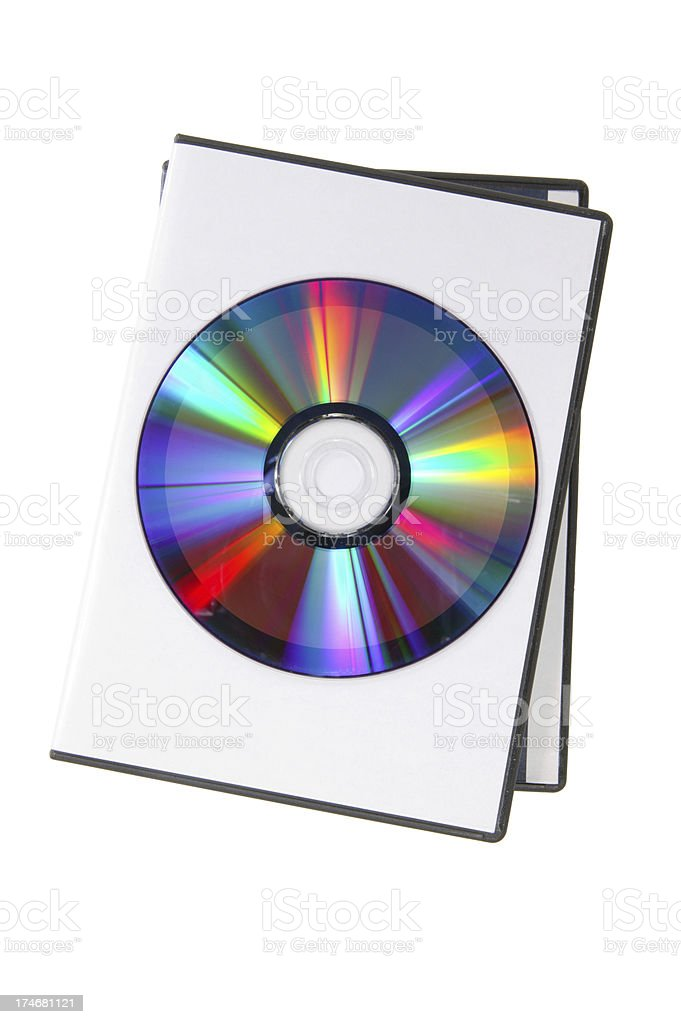 DVD case and disk(with clipping path) royalty-free stock photo