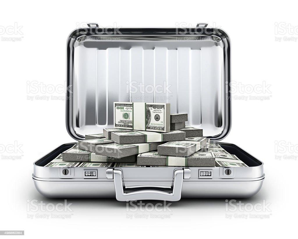 Case and money stock photo