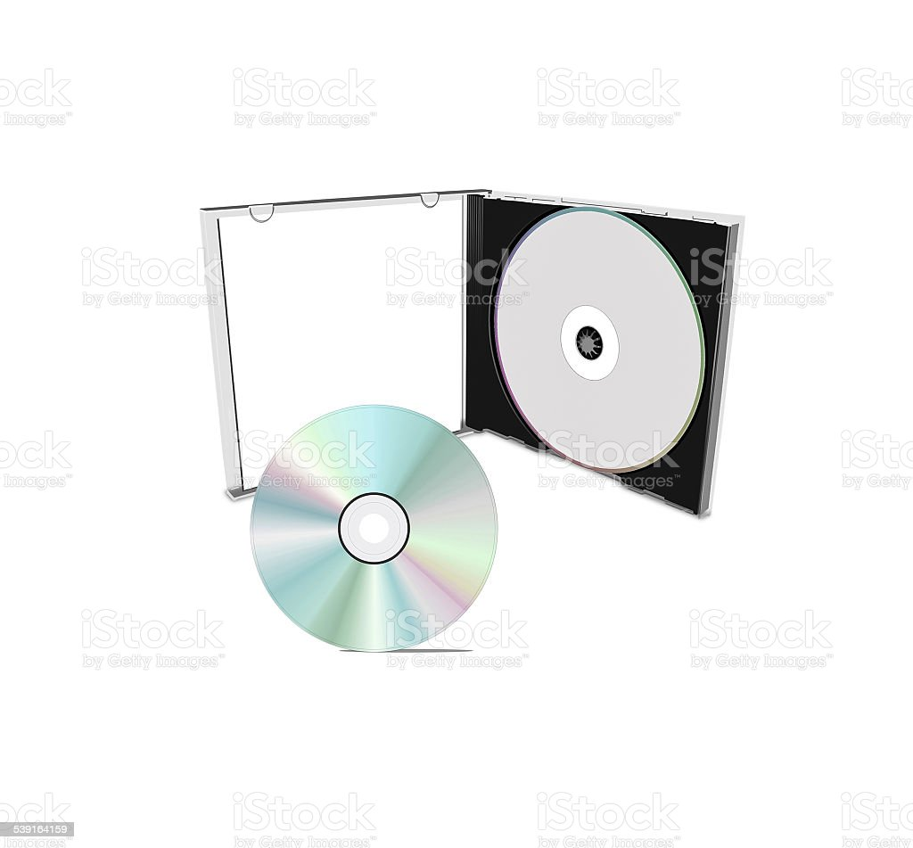 DVD case isolated stock photo