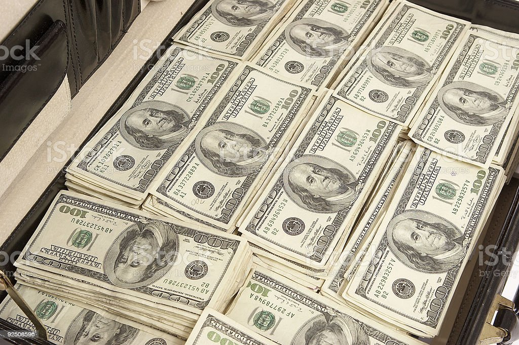 Case of cash royalty-free stock photo