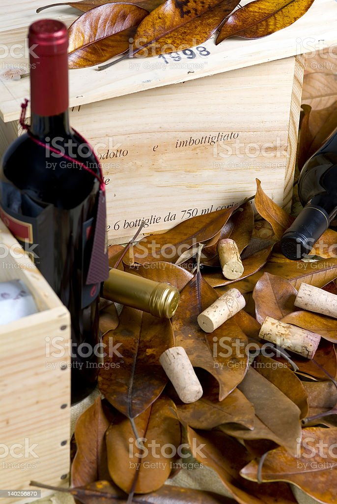 Case of wine royalty-free stock photo
