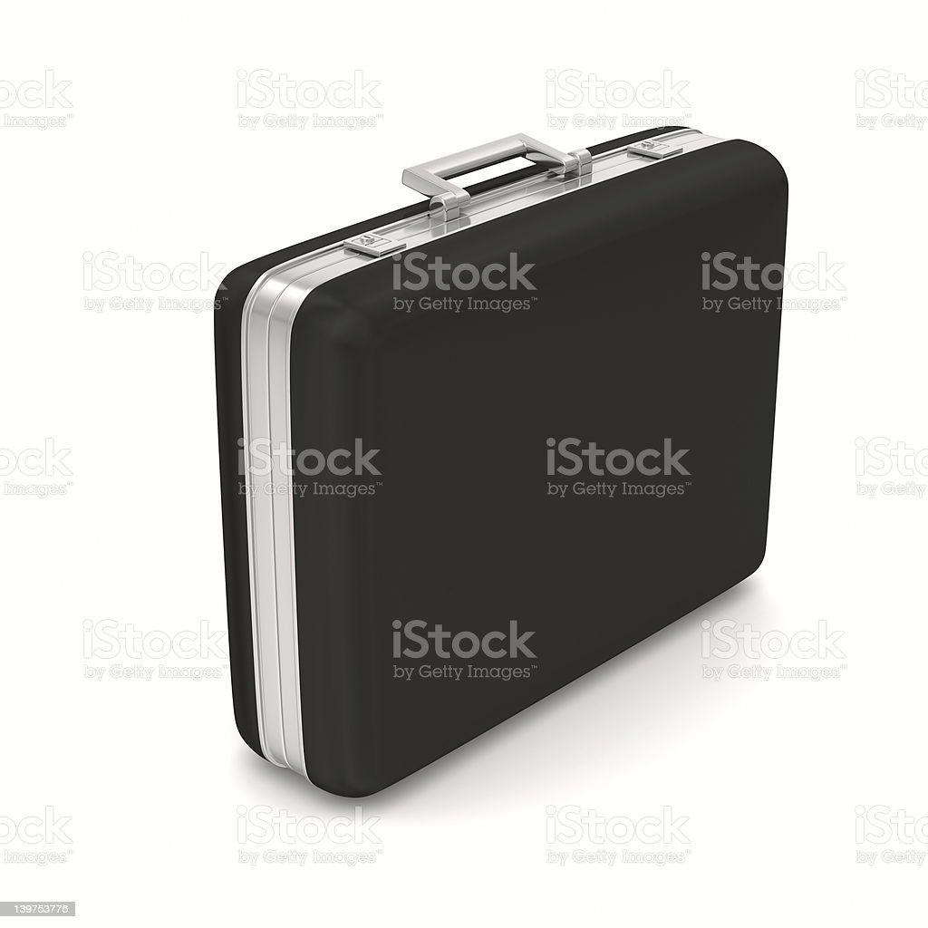 Case on white background. isolated  3D image royalty-free stock photo