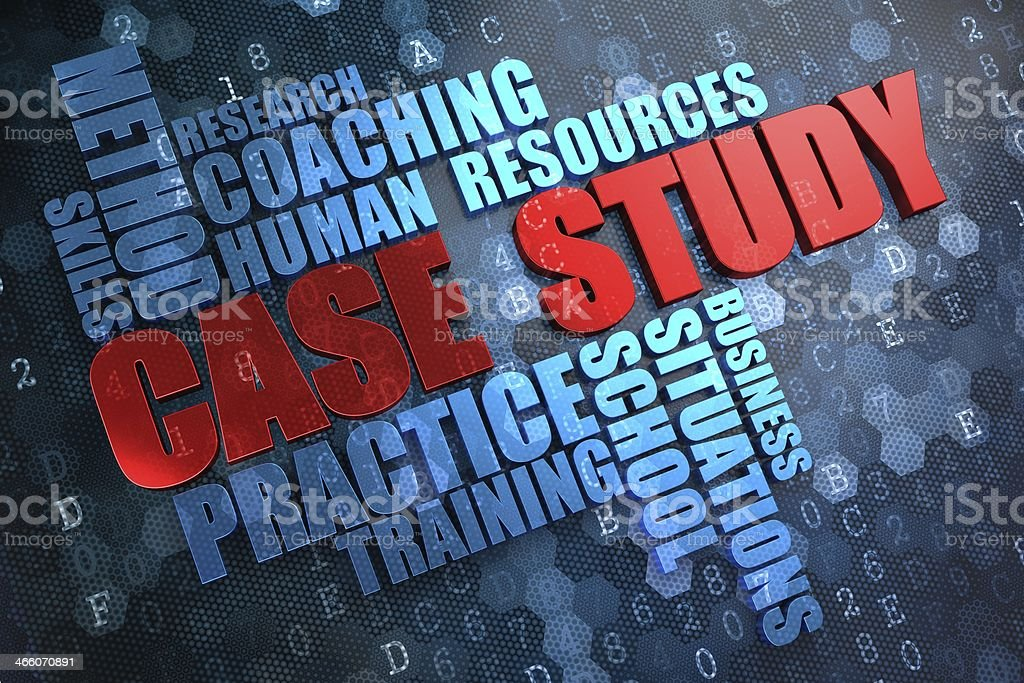Case Study. Wordcloud Concept. stock photo