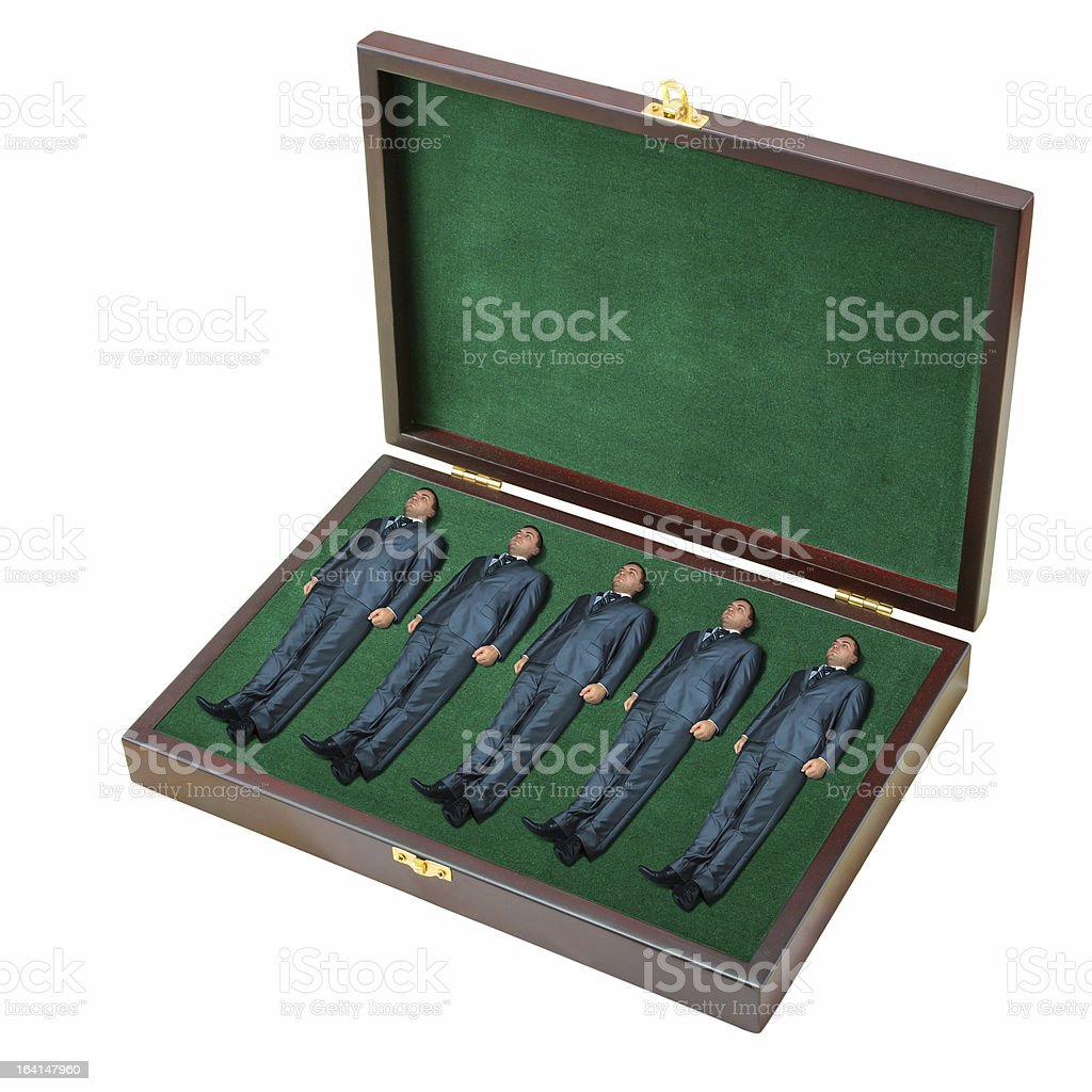 Case with small businessmen royalty-free stock photo