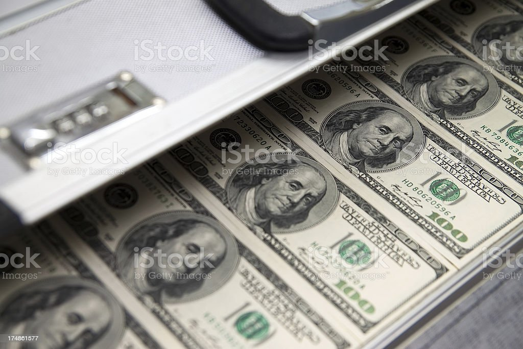 case with the money royalty-free stock photo