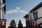 Caserne Turenne inscription above the gate of the enrolmen