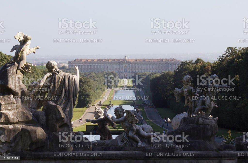 Caserta Palace Royal Garden. stock photo