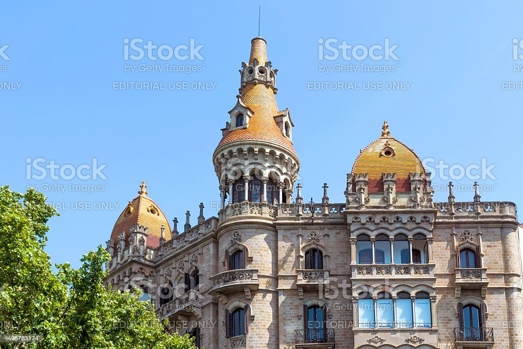 Cases Antoni Rocamora - Barcelona Spain stock photo