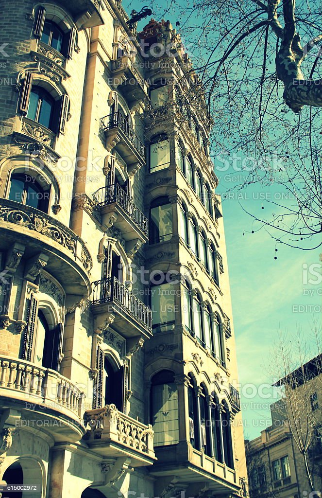 Cases Antoni Rocamora in Passeig de Gracia, Barcelona, Spain stock photo