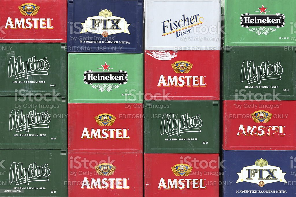 Cases of beer royalty-free stock photo