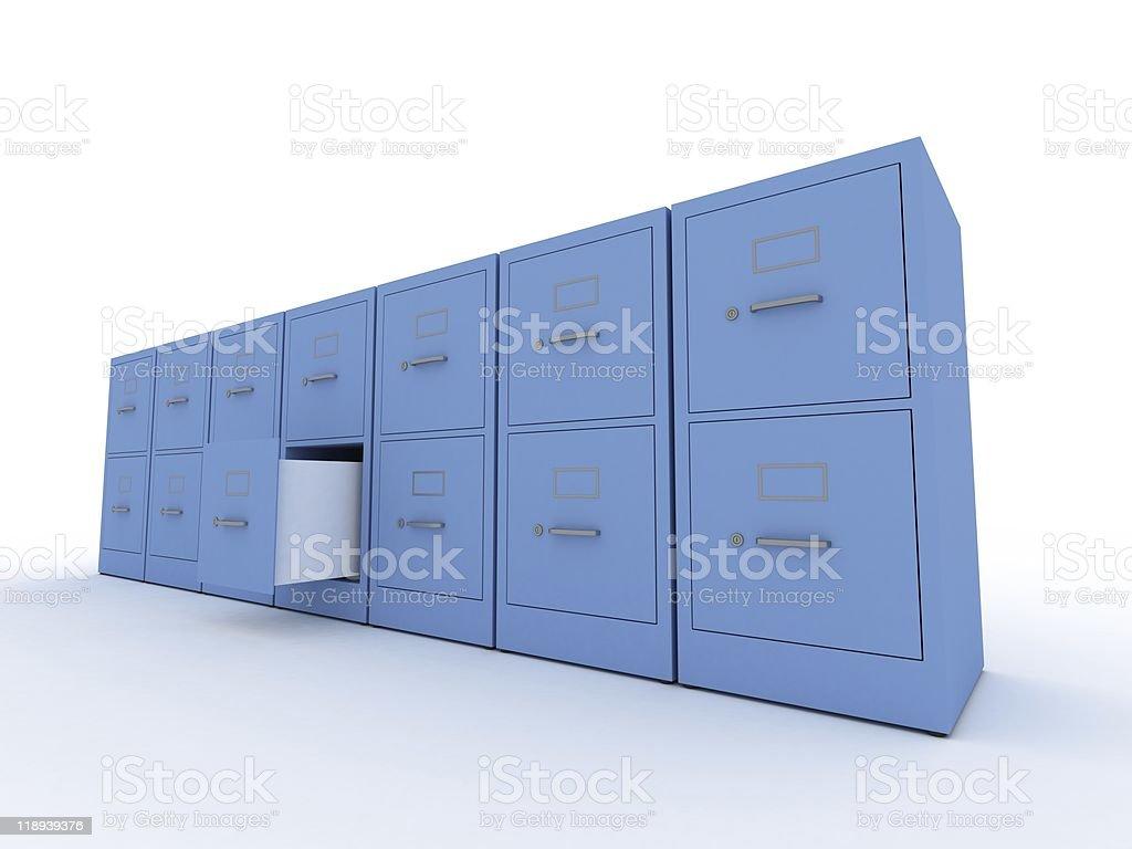 Cases, one opened stock photo