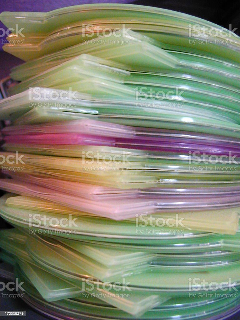 CD Cases royalty-free stock photo