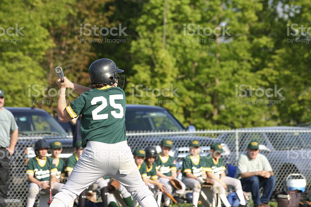 Casey at the plate royalty-free stock photo