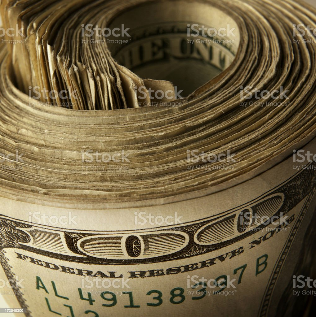 Cash 25 stock photo