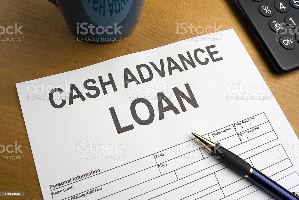 Cash Advance Loan royalty-free stock photo