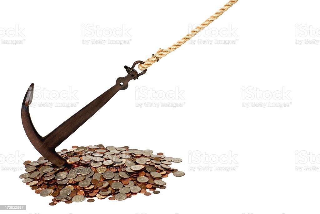 Cash Anchor royalty-free stock photo