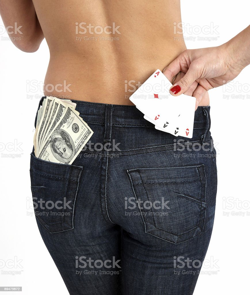 Cash and cards royalty-free stock photo