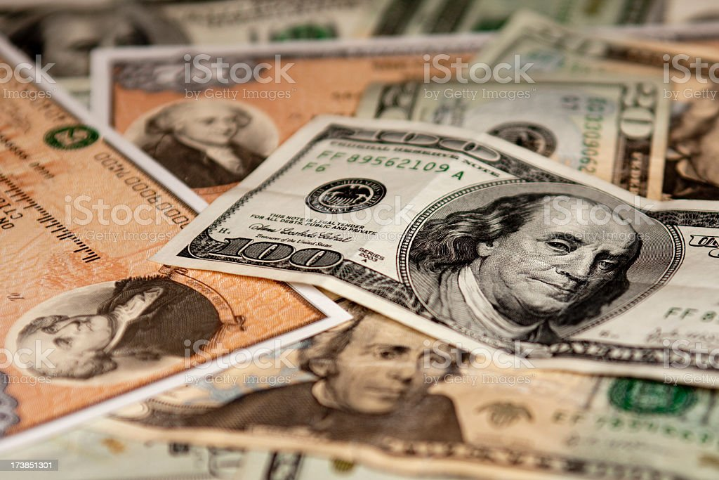 Cash and Investments stock photo