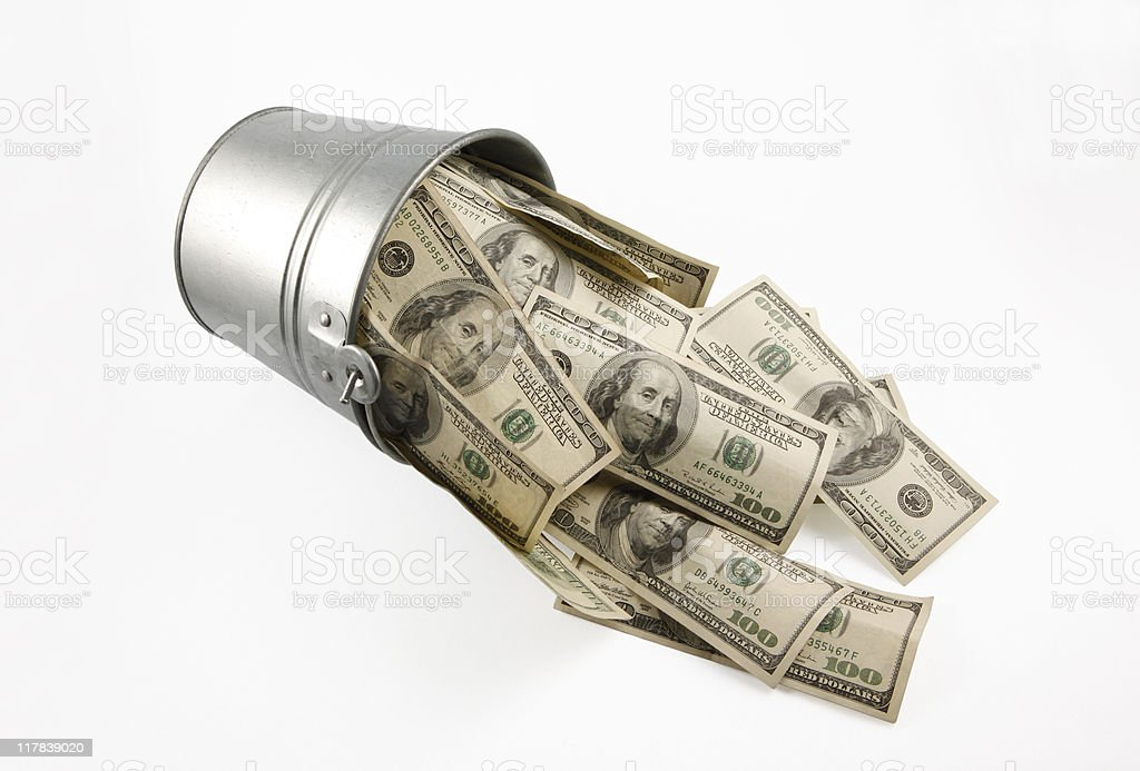 Cash Bailout stock photo