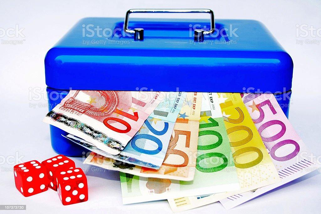 Cash box stock photo