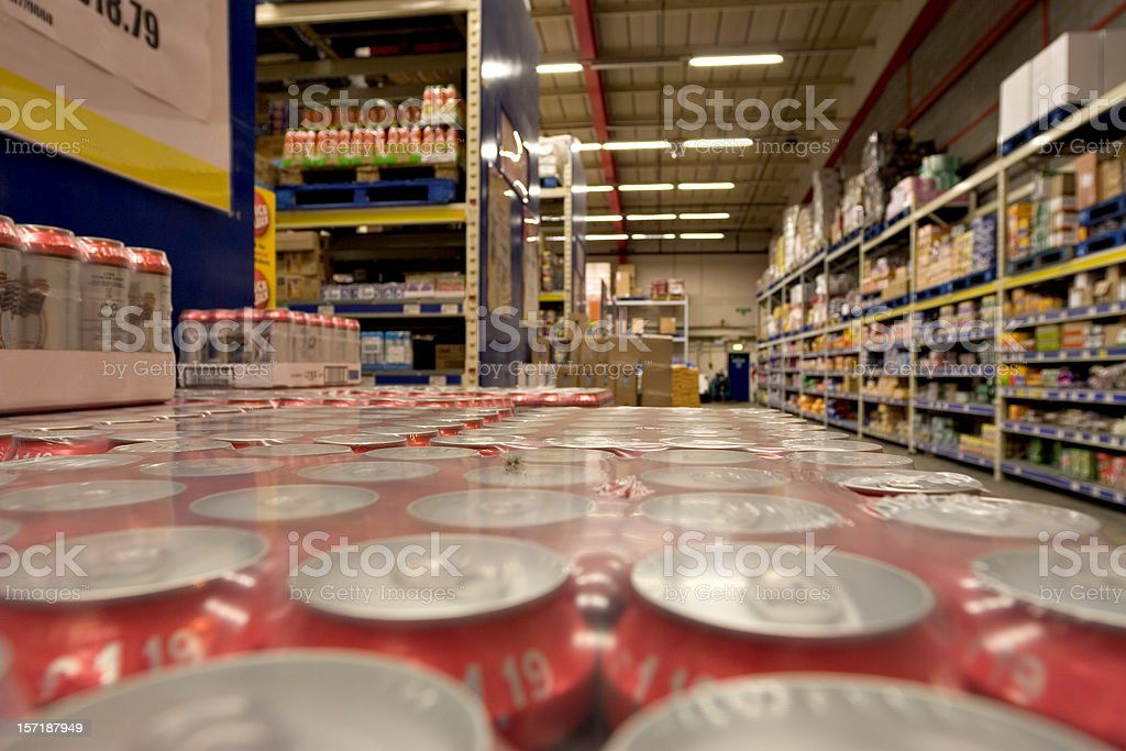 Cash & Carry Warehouse royalty-free stock photo