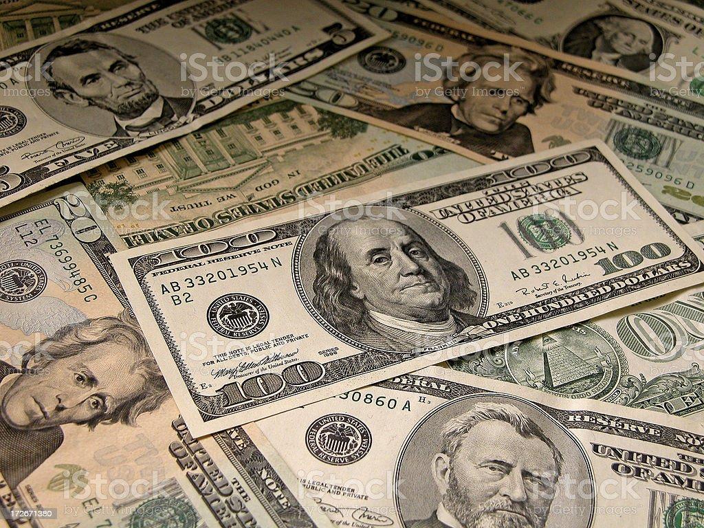 US Cash Collage stock photo