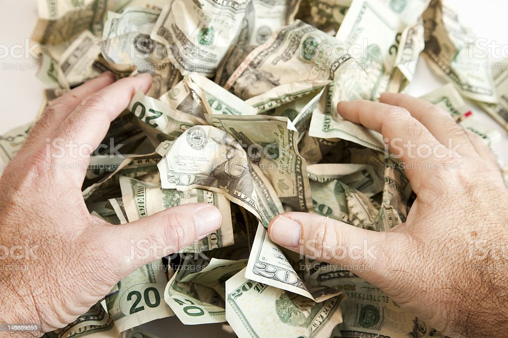 Cash Collect royalty-free stock photo