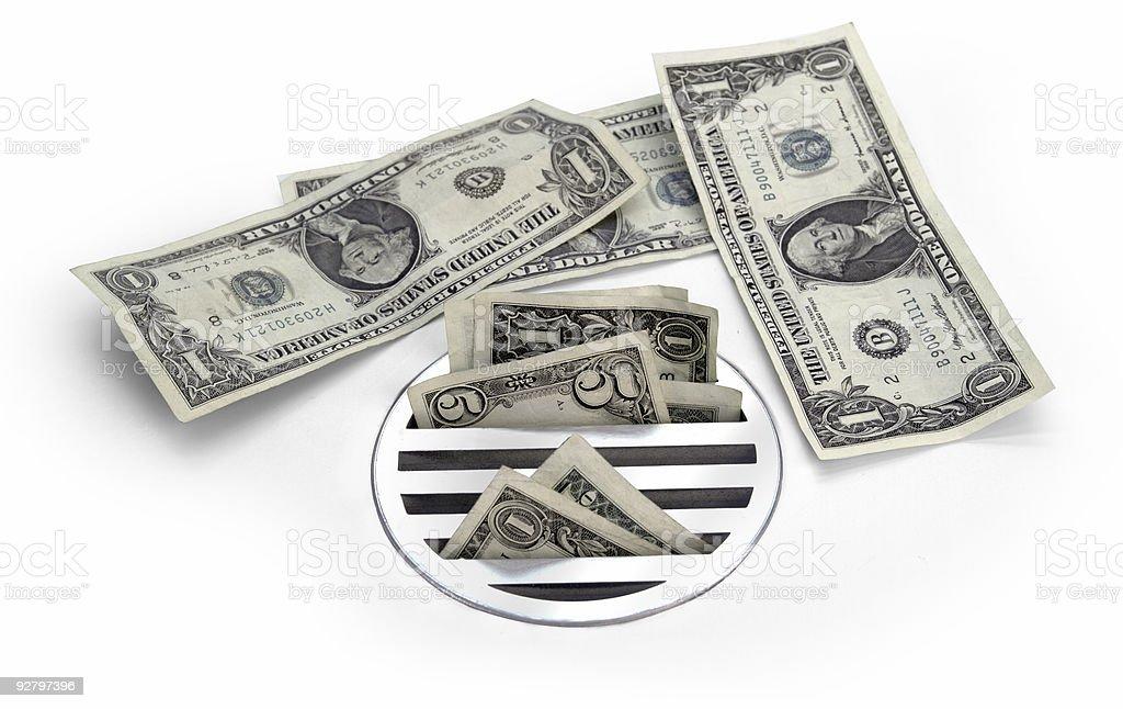 cash down the drain stock photo