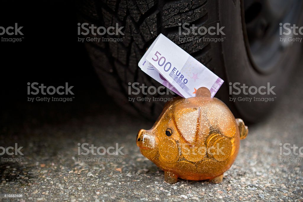Cash End for € 500 bill stock photo