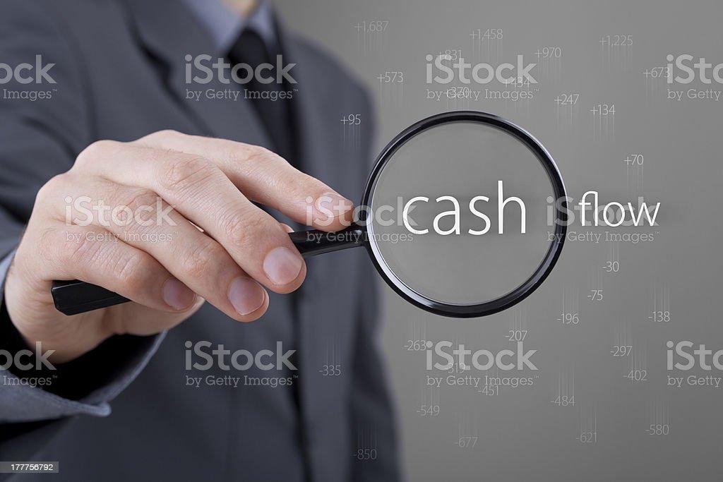 Cash flow audit stock photo